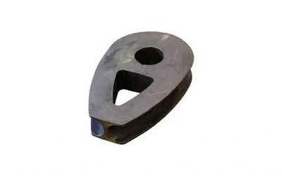Sapatilha compacta para cabo de aço