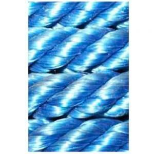 Corda de polietileno torcida azul