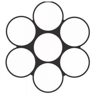 Cordoalha 7 fios 1x6 galvanizada